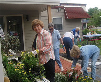 Planting at Philmont Library